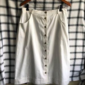 Vintage White Midi Skirt